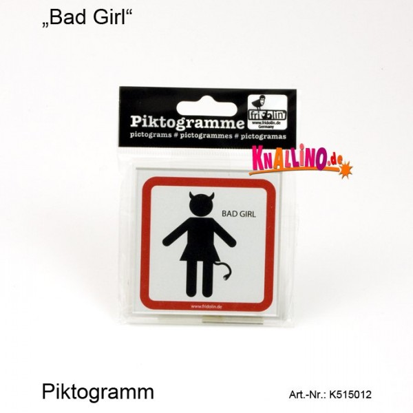 Bad Girl Piktogramm