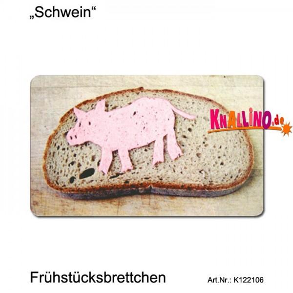 Schwein Frühstücksbrettchen
