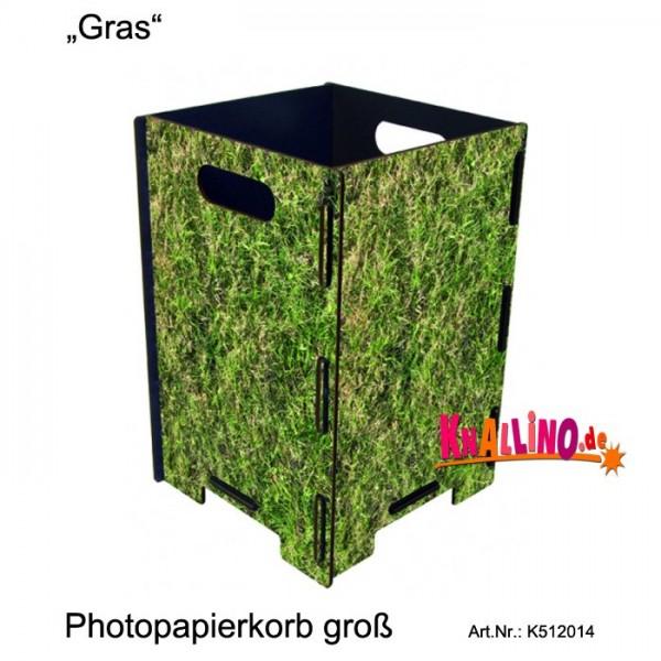 Gras Photopapierkorb groß