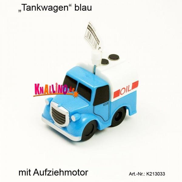 Tankwagen blau mit Aufziehmotor