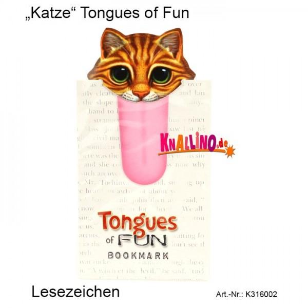 Katze Tongues of Fun Lesezeichen