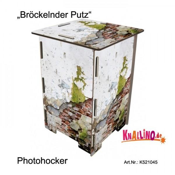 Bröckelnder Putz Photohocker