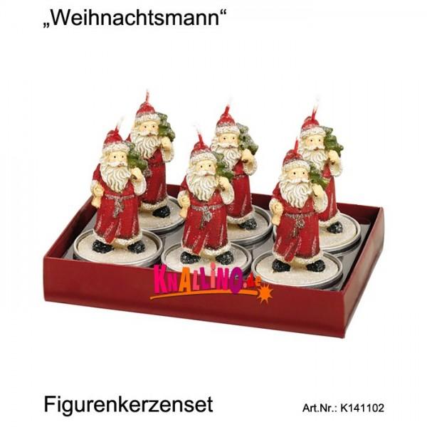 Weihnachtsmann Figurenkerzenset