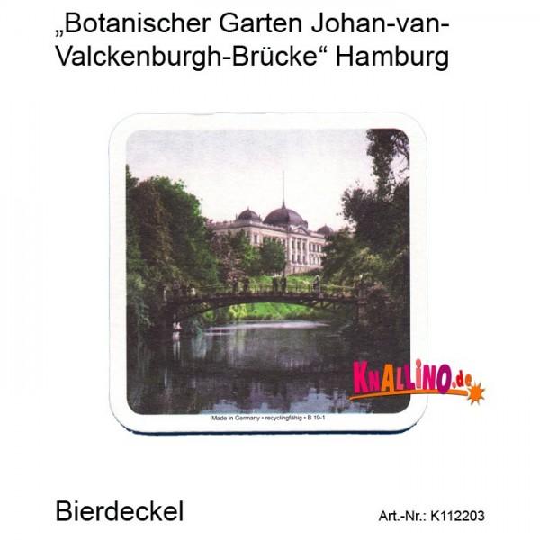Botanischer Garten Johan-van-Valckenburgh-Brücke Hamburg Bierdeckel