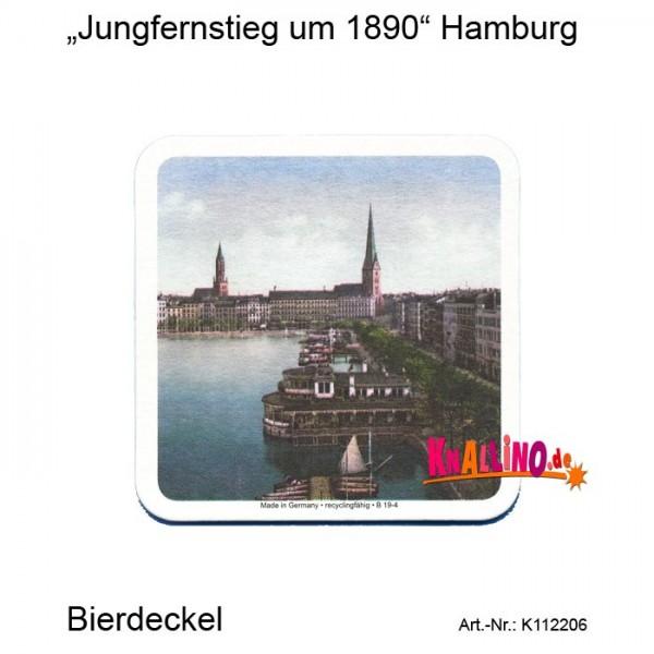 Jungfernstieg um 1890 Hamburg Bierdeckel