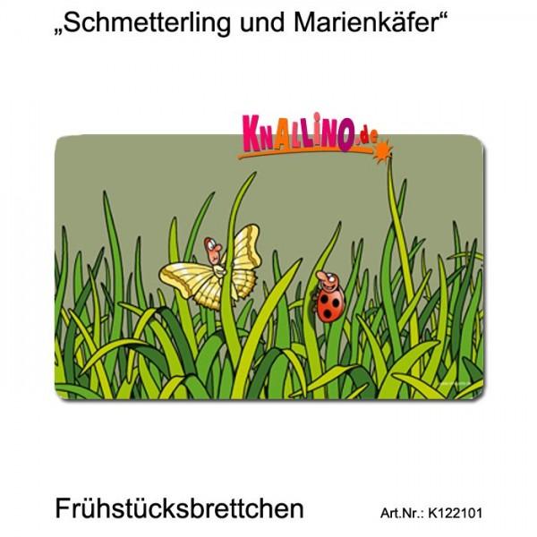 Schmetterling und Marienkäfer Frühstücksbrettchen