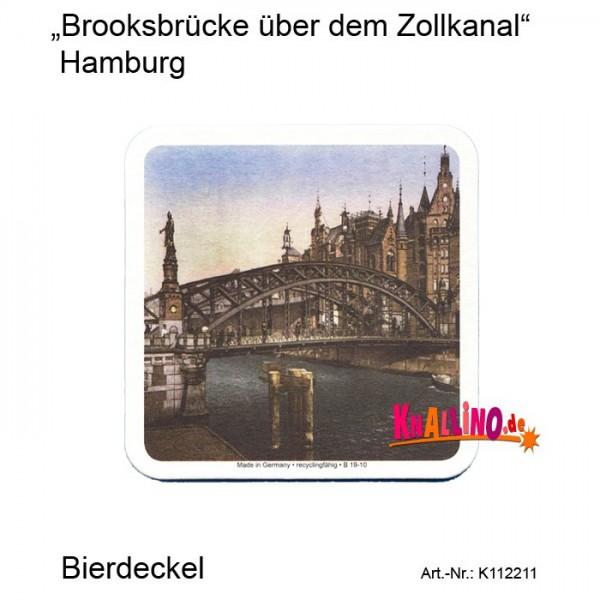 Brooksbrücke über dem Zollkanal Hamburg Bierdeckel
