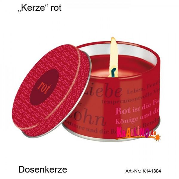 Kerze rot Dosenkerze