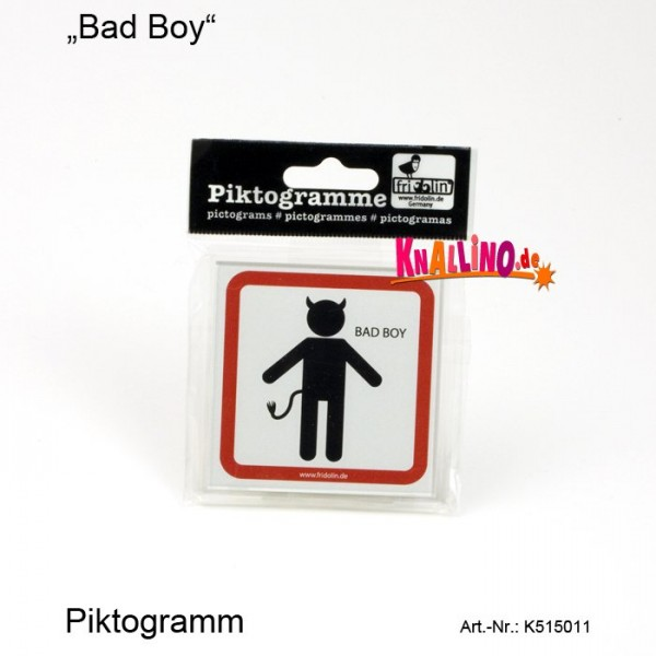 Bad Boy Piktogramm