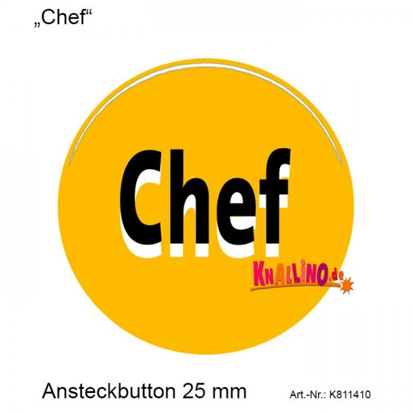 Chef Ansteckbutton 25 mm
