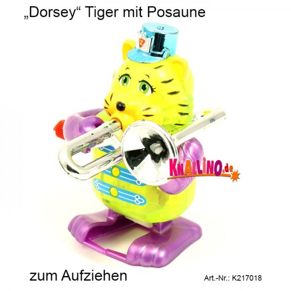 Z Wind Ups Dorsey Tiger mit Posaune zum Aufziehen