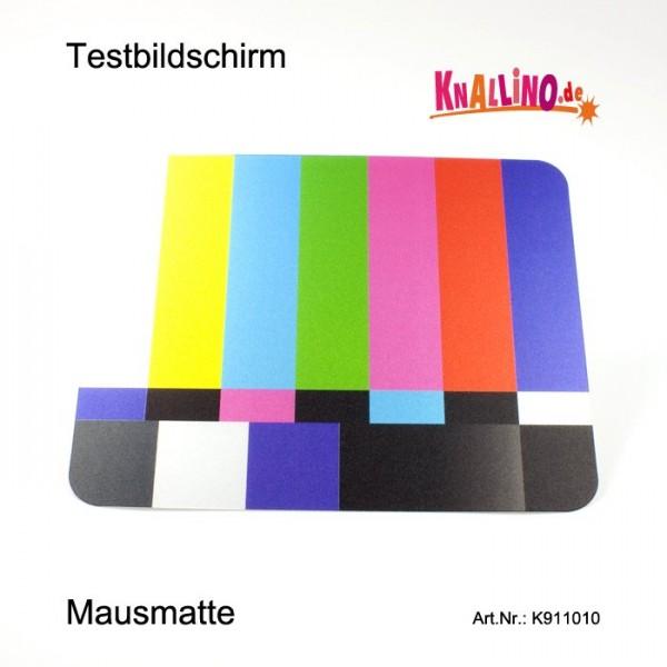 Testbildschirm mit farbigen Streifen Reflexions Mausmatte, Mousepad
