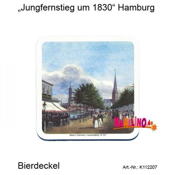Jungfernstieg um 1830 Hamburg Bierdeckel