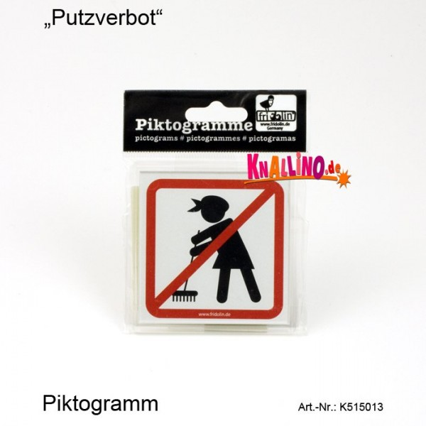 Putzverbot Piktogramm