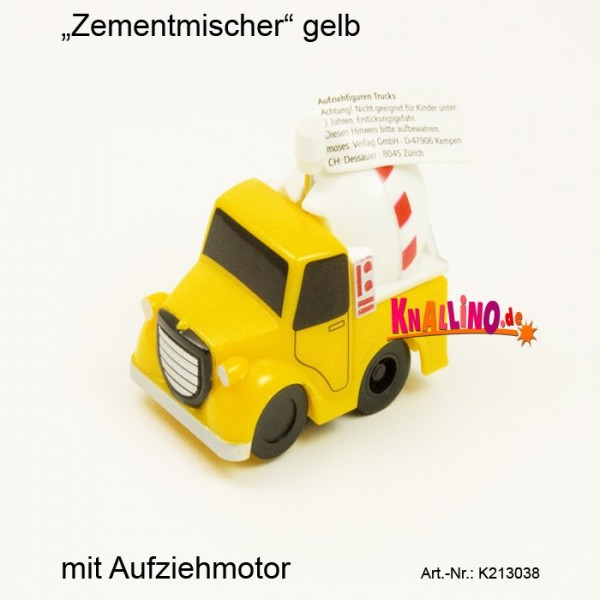 Zementmischer gelb mit Aufziehmotor