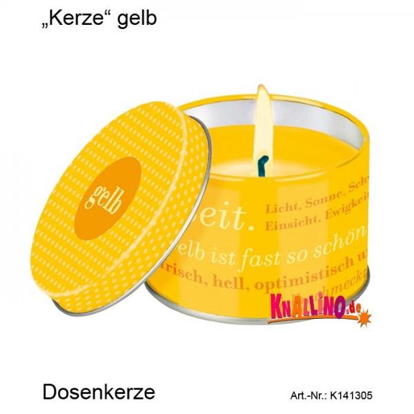 Kerze gelb Dosenkerze