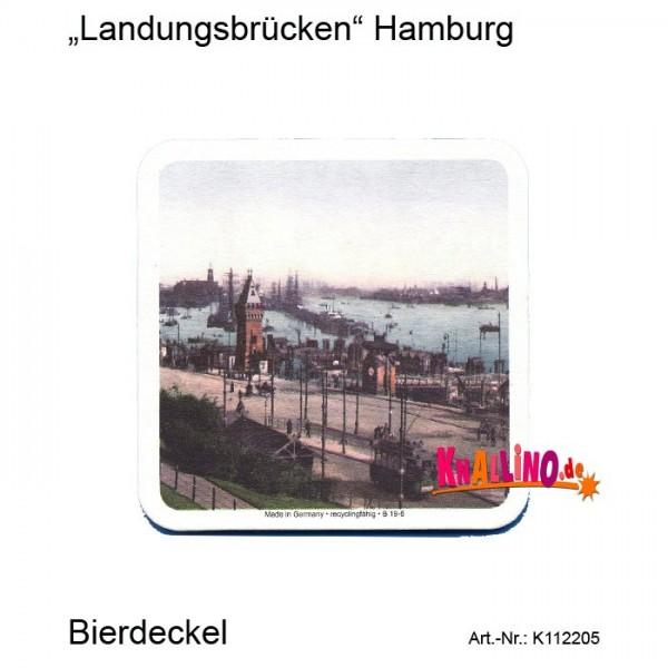 Landungsbrücken Hamburg Bierdeckel
