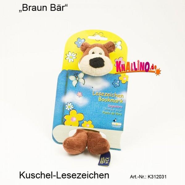 Braun Bär Kuschel-Lesezeichen