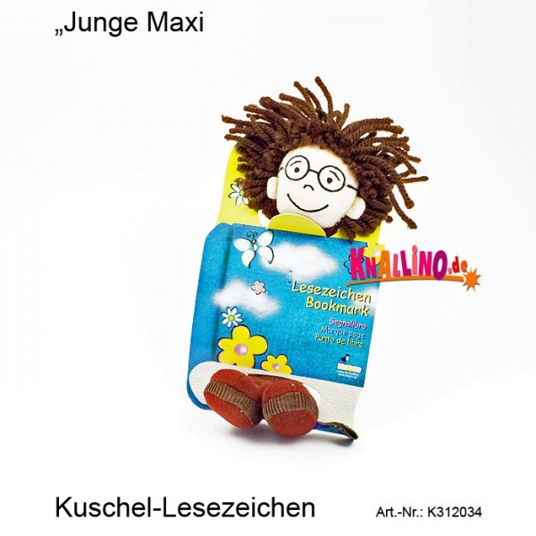 Junge Max Kuschel-Lesezeichen