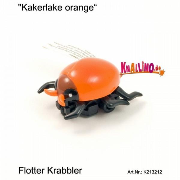 Kakerlake orange mit Rückziehmotor
