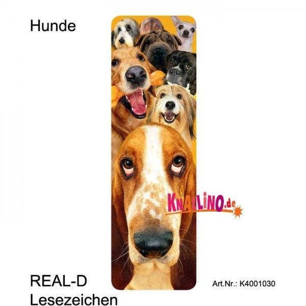 Hunde REAL-D Lesezeichen
