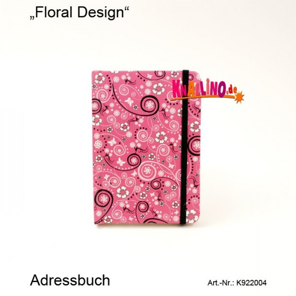 Floral Design Adressbuch