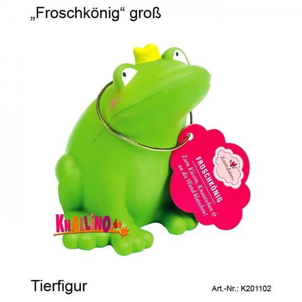 Froschkönig groß Tierfigur