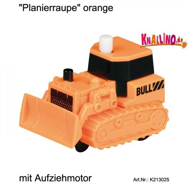Planierraupe orange mit Aufziehmotor