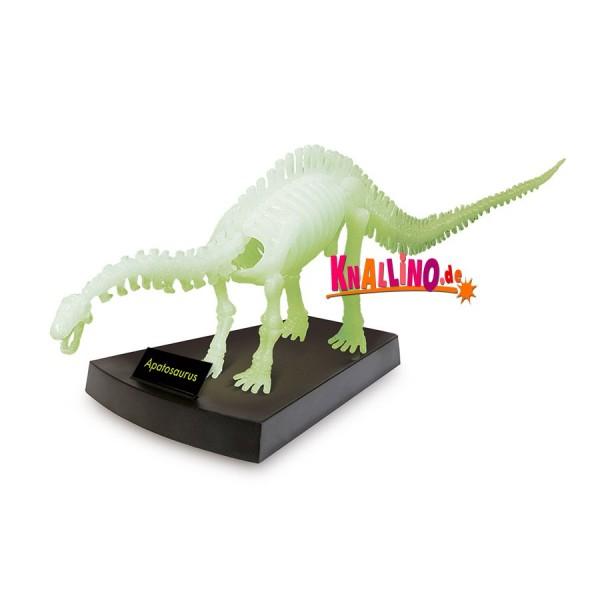 Geoworld Jurassic Night Apatosaurus-Skelett phosphoreszierendes Dinoskelett
