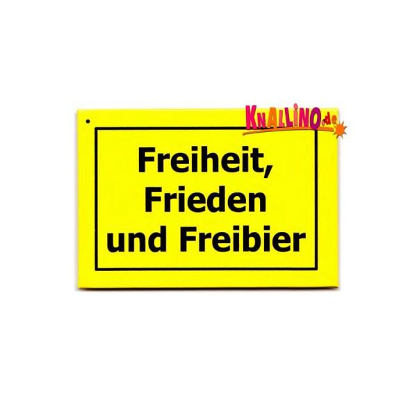 modern times Freiheit, Frieden und Freibier Kühlschrankmagnet