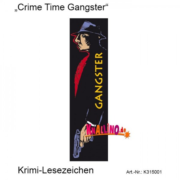 Crime Time Gangster Krimi-Lesezeichen