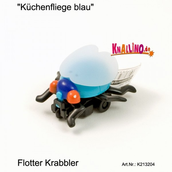Küchenfliege blau mit Rückziehmotor