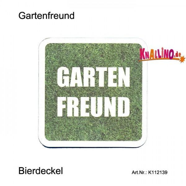 Gartenfreund - Ein Mann ohne Bier ist wie ein Rasenmäher ohne Gras Bierdeckel
