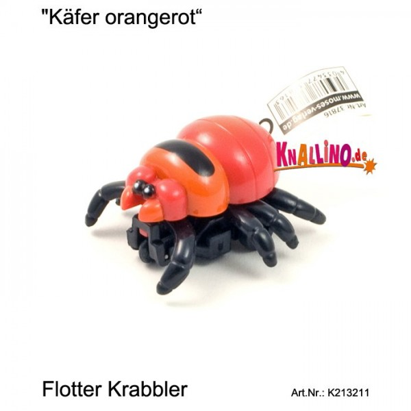 Käfer orangerot mit Rückziehmotor