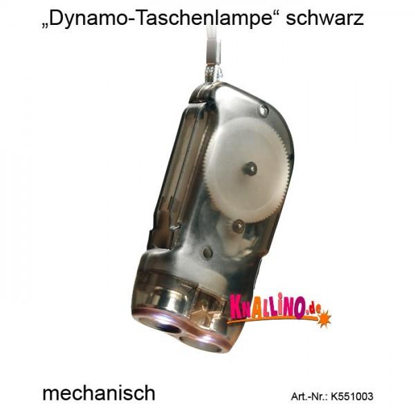 Dynamo-Taschenlampe schwarz