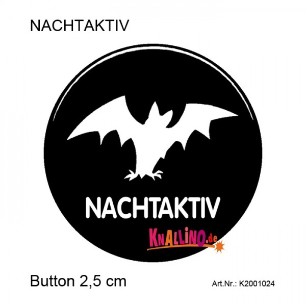 NACHTAKTIV Ansteckbutton 25 mm