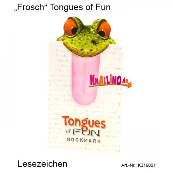 Frosch Tongues of Fun Lesezeichen