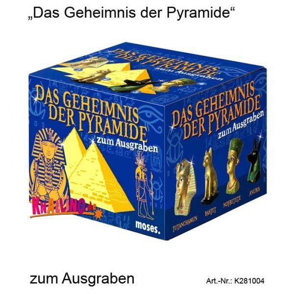 Das Geheimnis der Pyramide zum Ausgraben