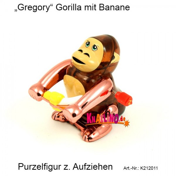 Gregory Gorilla mit Banane zum Aufziehen