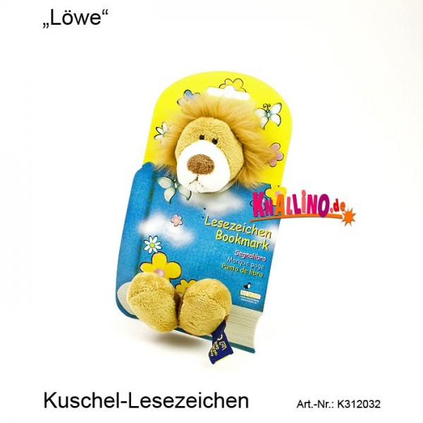 Löwe Kuschel-Lesezeichen