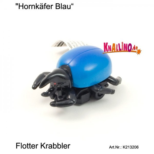 Hornkäfer blau mit Rückziehmotor