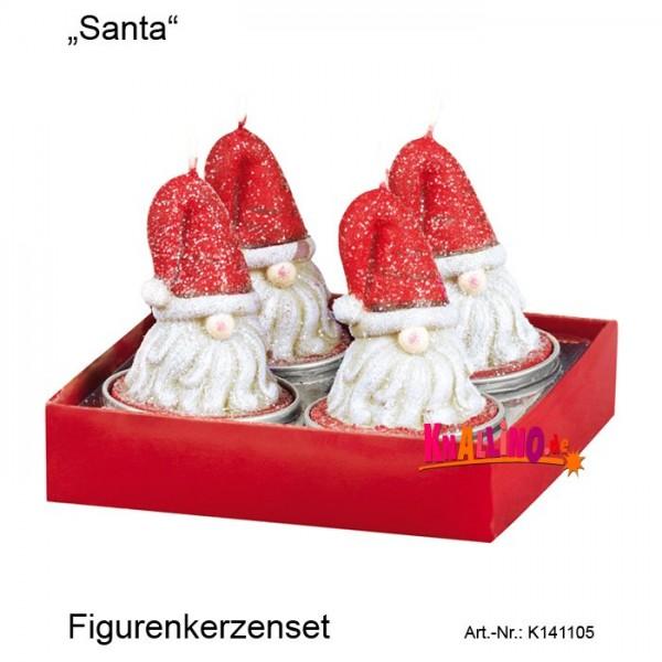 Santa Figurenkerzenset