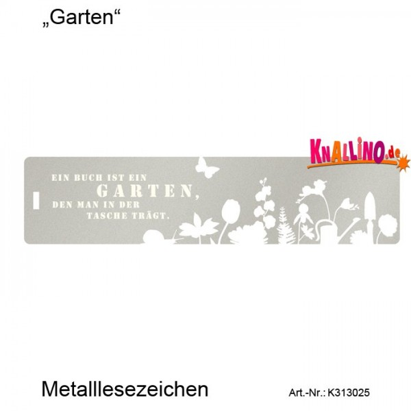 Garten... Metalllesezeichen