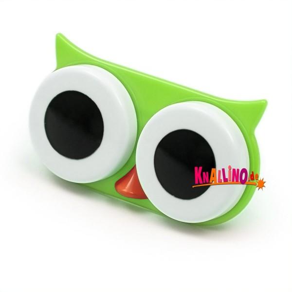 Eule grün Kontaktlinsenhülle