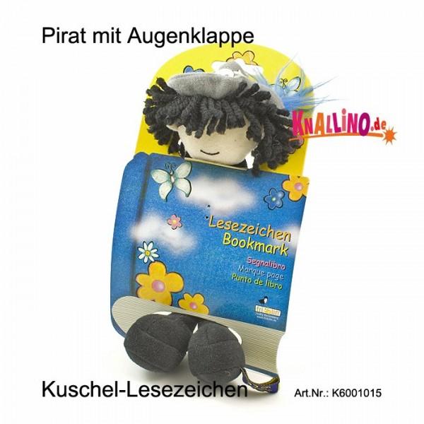 Pirat mit Augenklappe Kuschel-Lesezeichen