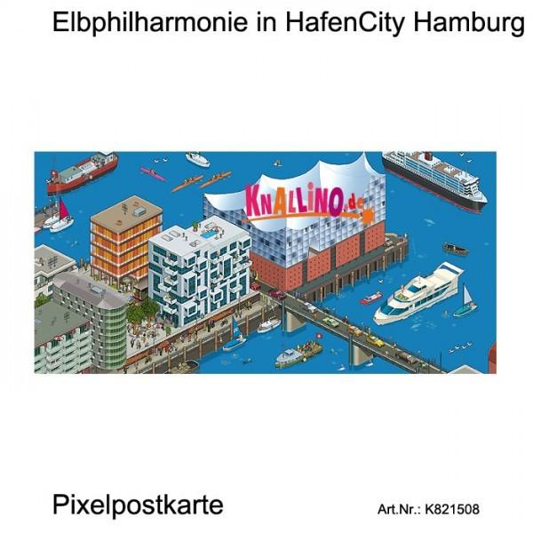 Elbphilharmonie in HafenCity Hamburg Pixelpostkarte