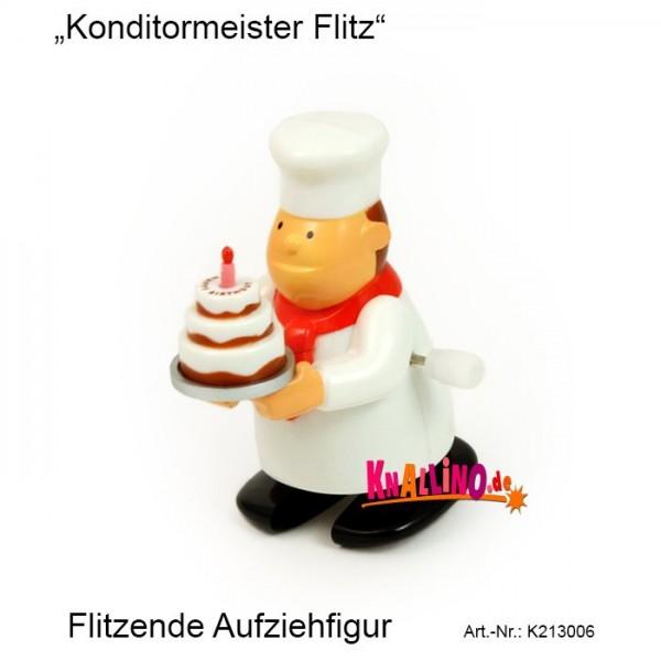 Konditormeister Flitz flitzende Aufziehfigur