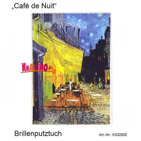 Café de Nuit Vincent van Gogh Brillenputztuch